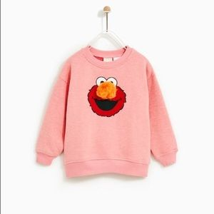 Zara pink Sesame Street Sweatshirt